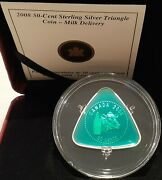 Milk Delivery 50-cent 2008 2/3oz Sterling Silver Proof Triangle Coin Canada