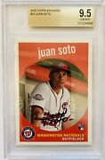 2018 Topps Archives Juan Soto Rookie Card Bgs 9.5 Red Facsimile Auto