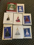 Hallmark Celebration Barbie Collectors Series Lot/8 Numbers 1, And 3-9 New