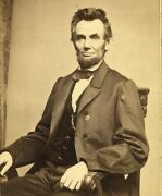President Abraham Lincoln, 1864, January 8th Portrait Photo Reproduction