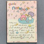 Vtg 1980s Little Twin Stars Music Notebook 24 Sheets 1976 Sanrio Stationery Love