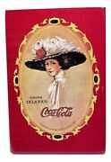 Vintage Coca-cola Red Pocket Mirror Gibson Girl With Hat 3 X 2 Purse 1970s