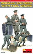 1/35 Miniart German Soldiers W/ Fuel Drums - Free Shipping