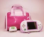 Purple And White Leapster Explorer With Carrying Case And Plug In Camera