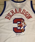 Quentin Richardson Rare Signed Hand Painted L.a. Clippers Jersey. Artist 1/1