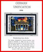 👉 Marshall Is. 1990 Germany Unification Mnh Flags, Horses