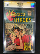 Heart Throbs 42 Quality Comics Cgc Ss 1.0 Signed By Gene Colan