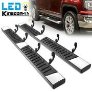 Running Board For 2007-2018 Chevy Silverado 1500 Crew Cab 6 Nerf Bars Side Step