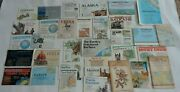 National Geographic World History Folded Maps Mixed Lot 33 Home School Vintage