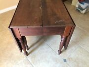 Antique Large Dining Rustic Kitchen Table James Pleukharp 1890and039s Ohio Eastlake