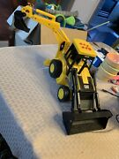 Toy State Industrial 1995 Cat Caterpillar Tractor Rare Bucket Moves Makes Sounds
