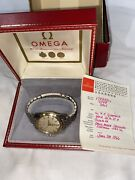 Vintage 1966 All Original Omega Seamaster Automatic Ss Rice Band Watch - Works