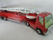 Vintage 1970's Nylint Fire Dept Hook And Ladder Aerial Turbo Power Truck