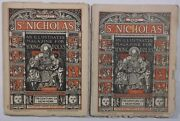 Lot Of 2 1882 St. Nicholas Magazines Traveling Circus Trains And Wagonscaravans