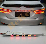 Chrome Rear Door Trunk Led Tail Light Cover For Toyota Camry 2018-21 Accessories