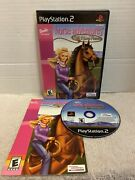 Barbie Horse Adventures Wild Horse Rescue Playstation 2 Ps2 Complete Tested E