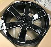 Fits 22 Ck162 5662 Rally Tires Wheels Rims Black Milled For Silverado Tahoe