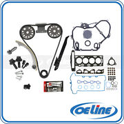 For 07-08 Chevy Cobalt 2.2l Timing Chain Kit Timing Cover Head Gasket Bolts Set