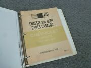 1971-1972 Chevy Corvette Chassis And Body Parts Catalog Manual Sting Ray Zr1 Zr2