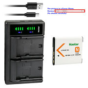 Kastar Battery Ltd2 Charger For Sony Np-bn1 Bc-csn And Sony Cyber-shot Dsc-wx9