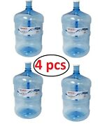 Plastic Water Bottle 5-gallon Bpa-free Durable Long-lasting Container 4 Pack New