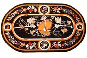 Marble Table Top Semi Precious Stone Pietra Dura Craft Handmade Home Decor