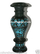 Flower Vase 14 Marble Pot Decorative Marquetry Floral Inlay Handmade Home Decor