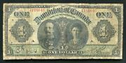 Dc-18d 1911 1 One Dollar The Dominion Of Canada Banknote