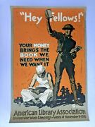 1918 Authentic Wwi Poster - Hello Fellows Your Money Brings The Books