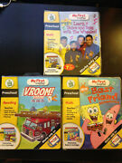 My First Leappad Book And Cartridge Lot Of 3 Vroom Vroom, Spongebob, The Wiggles