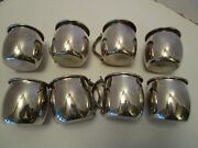 F B Rogers Silverplate Set Of 8 Punch Cups Pattern Fbr25