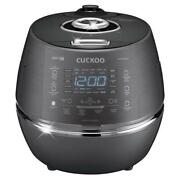 Rice Cooker 6-cup Induction Heating Pressure Insulated Locking Lid Dark Gray