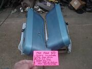 Ford Factory 1964 Galaxie Contvertible Rear Seat Side Panels Only With Ash Tray