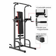 Pull Up Bar Power Tower Adjustable Height For Indoor Home Gym Fitness/