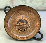 Greek Potteryhand Made New Kylix Battle Of Troy Circa 700b.c.