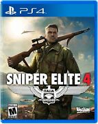 Sniper Elite 4 - Playstation 4 - New Free Usa Shipping