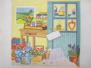 Needlepoint Canvas Potting Shed Hand Painted By Emma Ball Peb 047