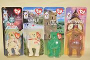 Mcdonalds Ty 'international Bears' Set Of 4 Beanie Babies Brand New In Boxes