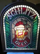 Unique Vintage Schlitz Stained Glass Hanging Beer Stein Sign Acrylic 26