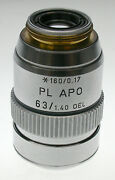 Leitz Microscope Planapo 63xoil Objective N.a. 1.40 In Excellent Condition.