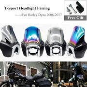 Abs 15 In Motorcycle Headlight Fairing Windscreen For Harley Dyna Fxdwg T-sport
