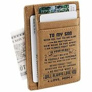 Son Memorial Gifts - Personalized Pocket Wallet Daughter 18th Birthday Christmas