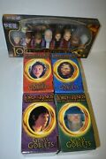 Lord Of The Rings Collectible 4 Piece Goblet Set And 8 Pez Dispenser Set- In Box