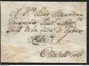 J 1800 Mexico, Colonial Mail, Tobacco Rent, Black Cancellation, Circulated Cove