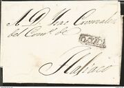 J 1832 Mexico, Colonial Mail, Complete Letter, Black Cancellation, Airmail, Cir