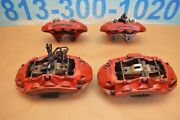 2013 W204 Mercedes C63 Amg Brembo Calipers Front And Rear 6 And 4 Piston Red