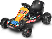 New Electric 4 Wheel Racer For Kids,pedal Cars For Outdoor,adjustable Seat Black