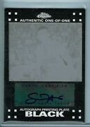Spencer Hawes 2007-08 Topps Chrome 1/1 Autograph Black Printing Plate Rc 118