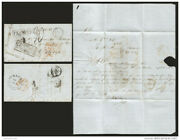 J 1855 Mexico, Maritime Mail, Fresnillo And Franco Black Boxes, 4 Reals At The