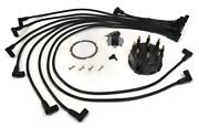 Rotor And Spark Plug Wire Kit With Distributor Cap For Glm 71510 Boat Engines